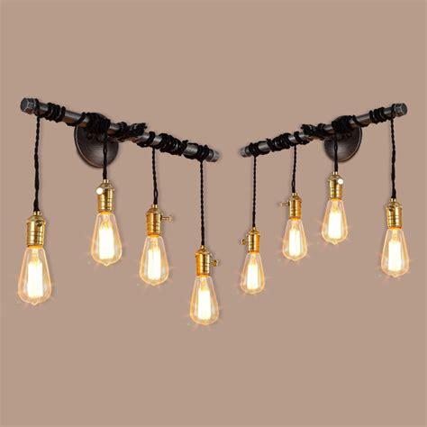 iron pipe light fixture steunk black iron pipe l living room wall light