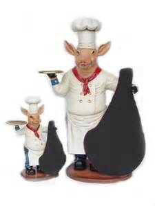 Pig Chef with Chalk Menu Sign Board - 3'  Life Size Statue