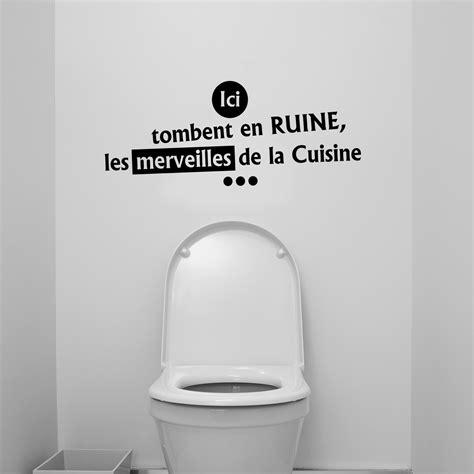 foto de Sticker citation wc ici tombent en ruine les merveilles