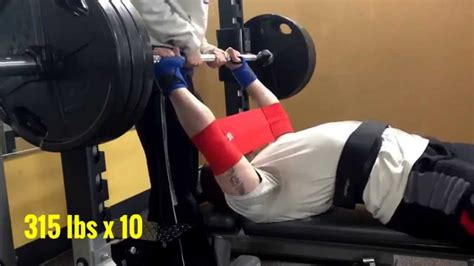 slingshot bench press bench press 315 lbs x 10 w slingshot 280 lbs x 11