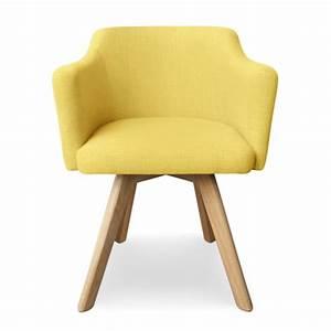 Fauteuil Scandinave Jaune : fauteuil scandinave jaune en tissu rigo pas cher ~ Melissatoandfro.com Idées de Décoration