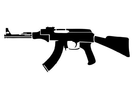 Ak 47 Clipart Ak47 Stencil Cliparts Co