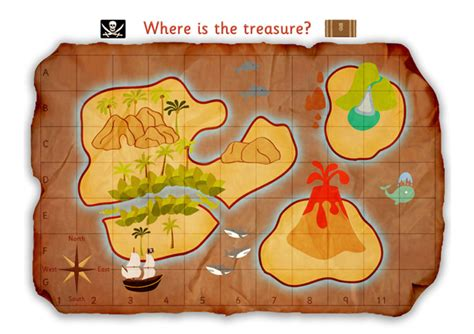 early learning resources pirate treasure map poster