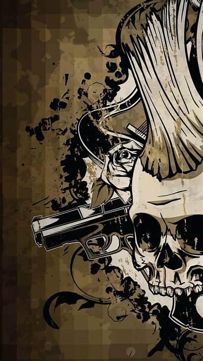 Skull Android Wallpapers Skulls Guns Cool Phone
