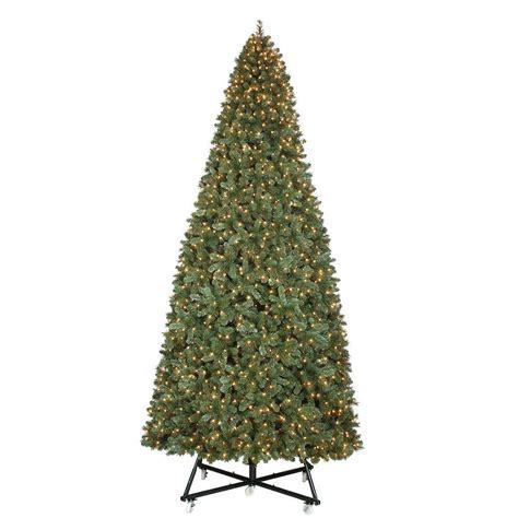 general foam 6 5 ft pre lit siberian frosted pine