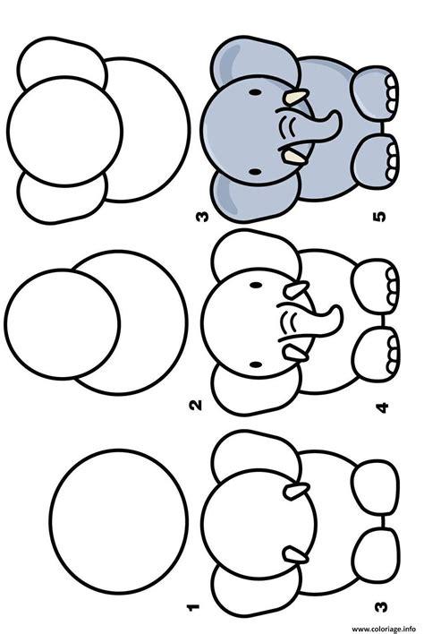 dessin a faire coloriage dessin facile a faire elephant dessin
