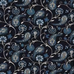 Teal Green Bathroom Decor by Navy Blue Beige Paisley Floral Indoor Outdoor Upholstery