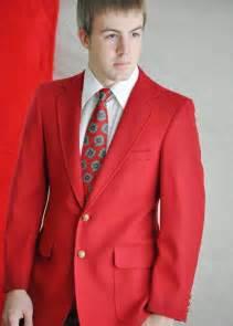 Men Red Blazer Suit Jackets
