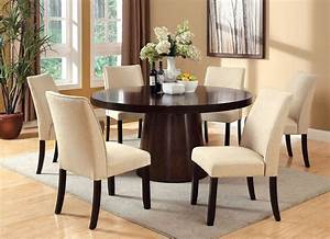 Havana, Round, Dining, Room, Set, W, Cimma, Chairs, By, Furniture, Of, America