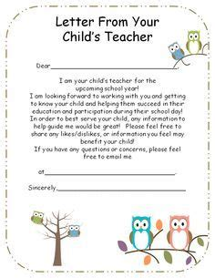 introduction letter to parents from preschool 919 | b650fcc95776f2f8b61e3c44e1927b78