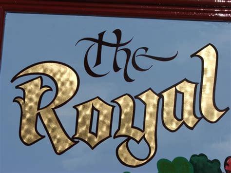 gold leaf lettering gold leaf lettered pub sign osborne signs