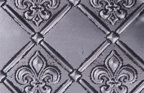 wc 80 faux tin backsplash roll fleur de lis 3