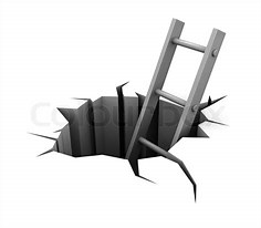 Image result for free clip art of a ladder out of a pit
