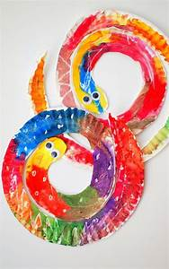 Easy and Colorful Paper Plate Snakes | Snake, Easy and Craft