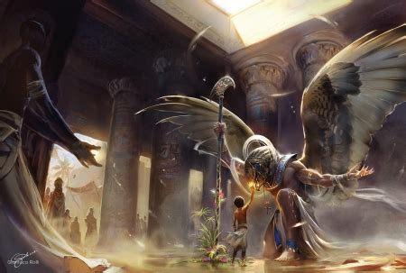 horus fantasy abstract background wallpapers