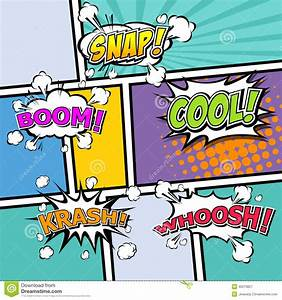 the gallery for gt comic speech bubble vector With comic strip bubble template