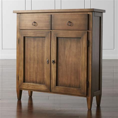10 inch deep console cabinet stretto nero noce cabinet crate and barrel