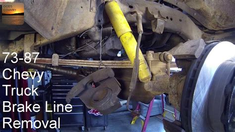 chevy truck   remove front brake hoses