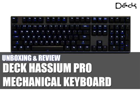 deck hassium pro keyboard tech critter