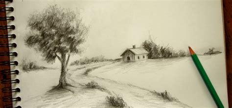 methode pour dessiner  paysage de campagne sur le vif