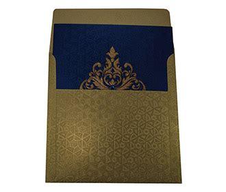 elegant wedding invite  royal blue  golden patterns