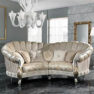 Italian Designer Four Seater Curved Sofa