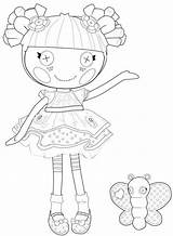 Coloring Rag Doll Pages Lalaloopsy Getcolorings Printable sketch template