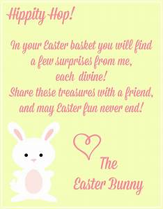 free easter printables notes from the easter bunny With letter to easter bunny template