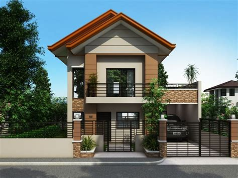 collection beautiful narrow house design story floor home small lot bahay