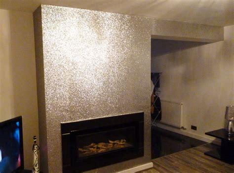 sparkling silver glitter wallpaper feature wall