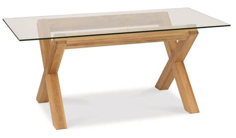 lyon oak glass dining table 6 ivory wing back faux