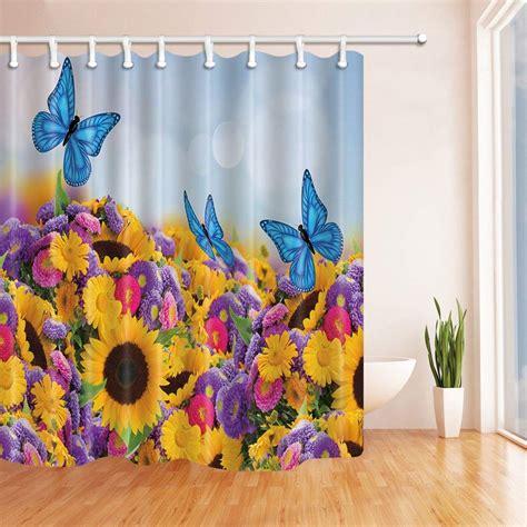 bpbop sunflower decor butterflies  sunflowers purple