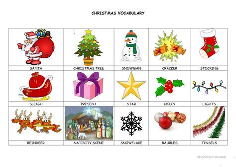 christmas decoration vocabulary list psoriasisgurucom