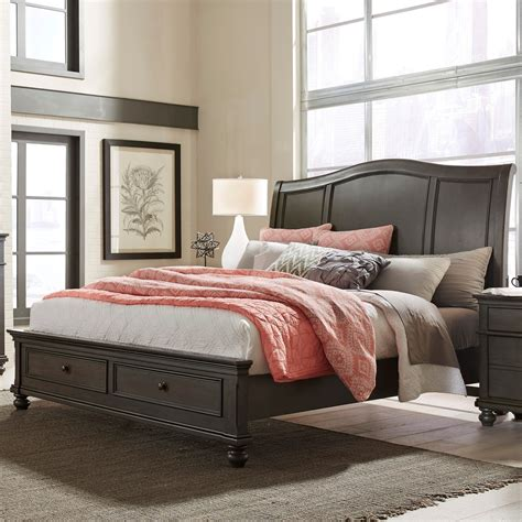 oakford transitional king sleigh storage bed  usb