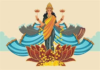 Lakshmi Goddess Illustration Vector Milk Clipart Vectors