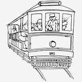 Street Clipart Francisco San Cable Coloring Streetcar sketch template