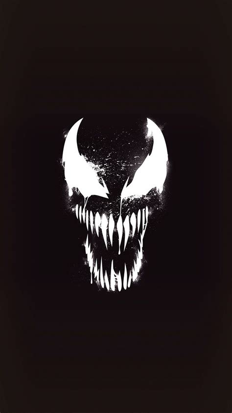 venom dark minimal iphone wallpaper marvel wallpaper