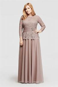 plus size glitter lace long sleeve mother of bride groom With mothers dress for wedding plus size