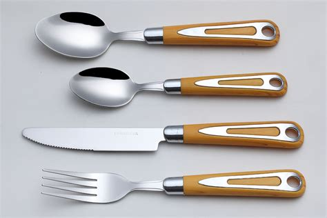 flatware handle wood