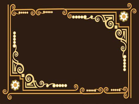 ornate frame powerpoint templates border frames brown