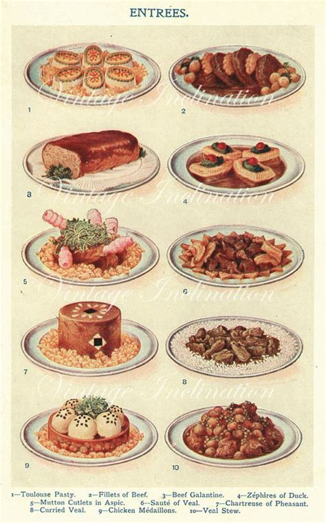 cuisines vintage early 1900s mrs beeton cooking print antique