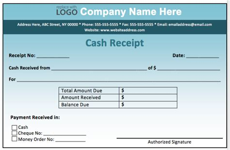 high quality fill  template sample  cash payment
