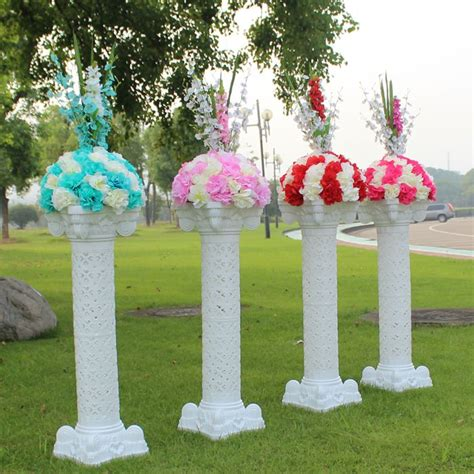 New Style Wedding Plastic Column White Roman Pillars