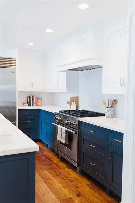 backsplashes for small kitchens before and after two toned kitchen reno home bunch 4283