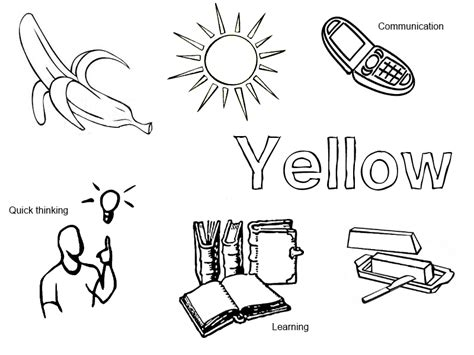 Yellow Coloring Pages Printable