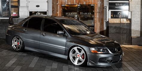 car mitsubishi lancer evolution  rotiform tmb wheels
