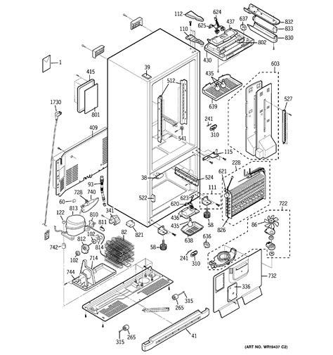 ge bottom mount refrigerator parts model pdsscparss sears partsdirect