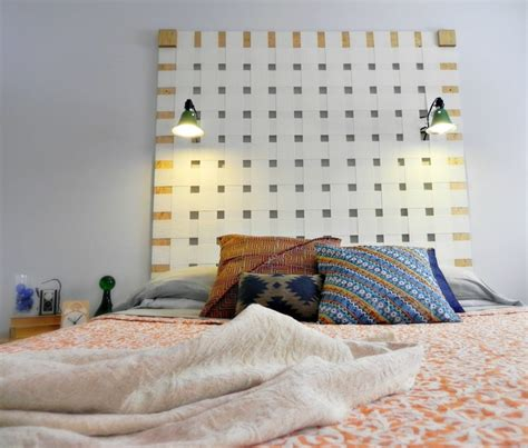 Diy Woven Headboard From Upcycled Vertical Blinds Mad In