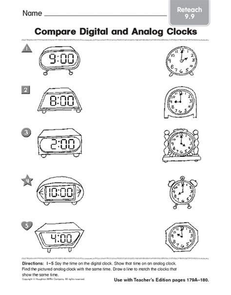 Analog And Digital Clock Worksheets For Kindergarten  Time Worksheets For Kids Edu Resource