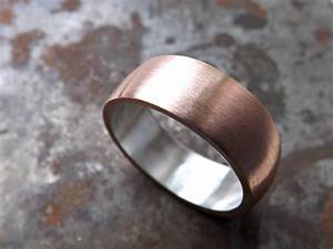 copper wedding ring mens promise ring bold copper ring With mens copper wedding rings